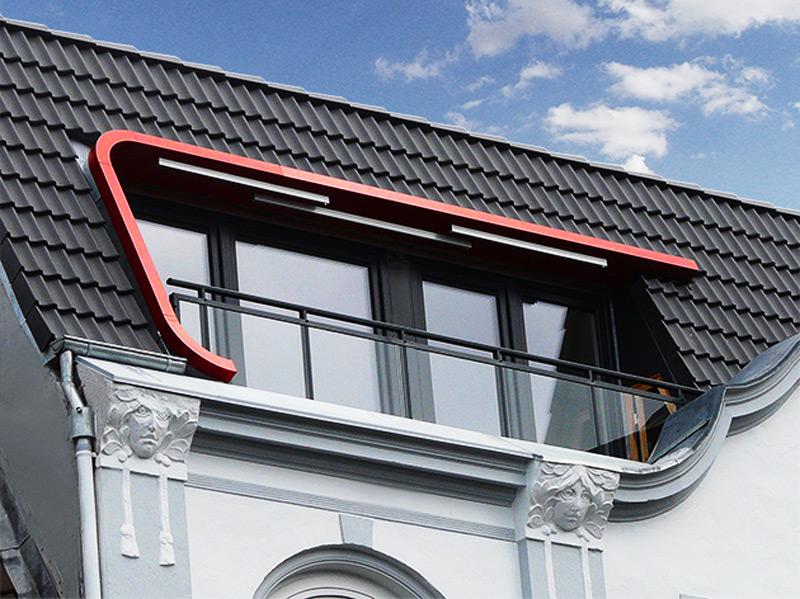 Ansicht Loggia mit Metallrahmen Roik Architekt Hamburg