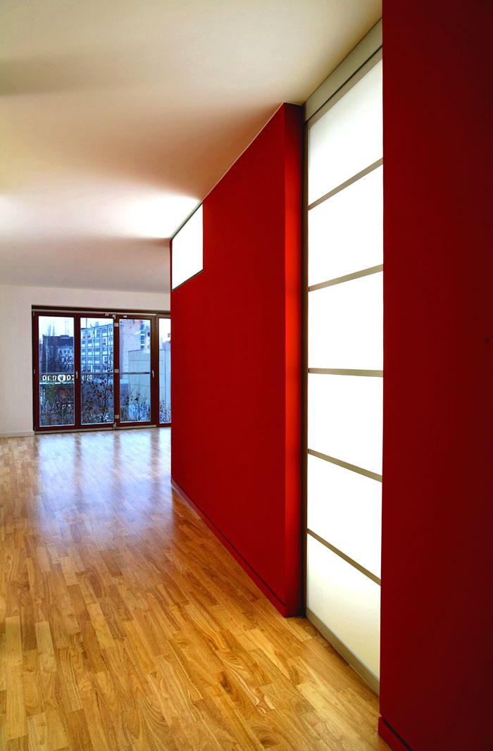 Durchblick zur Reeperbahn in der von Roik Architekt gestalteten Wohnung