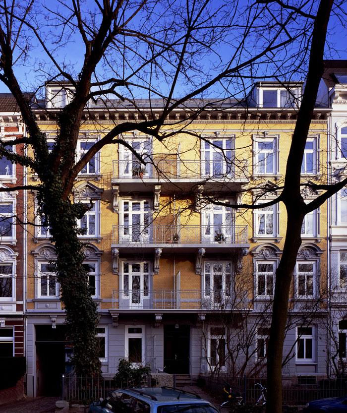 Sanierte Altbaufassade von Roik Architekt Hamburg