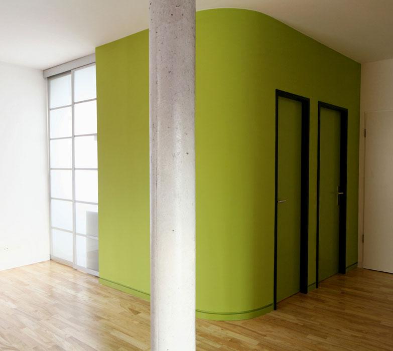 Green-Box mit Versorgungsräumen von Roik Architekt Hamburg