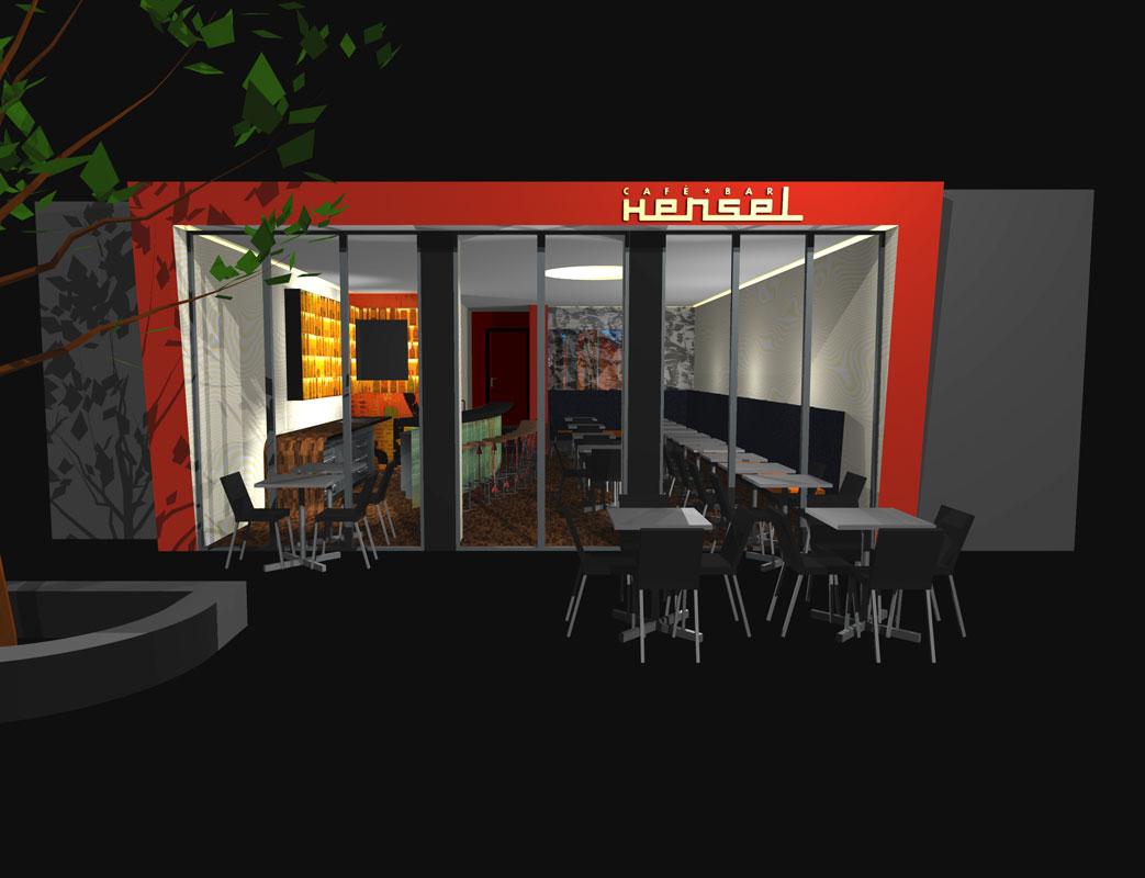 Ansicht Entwurf Bar von Roik Architekt Hanburg