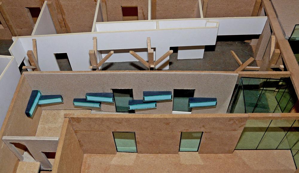 Planungsmodel Eingangsbereich Kinderbuchverlag von Roik Architekt