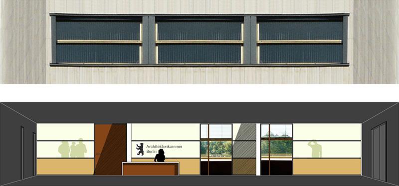 Grafik Wettbewerb Architektenkammer Berlin von Roik Architekt Hamburg