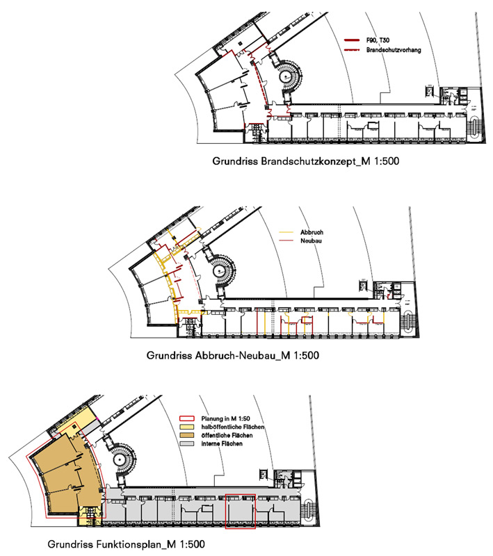Funktionspläne Wettbewerb Architektenkammer Berlin von Roik Architekt Hamburg