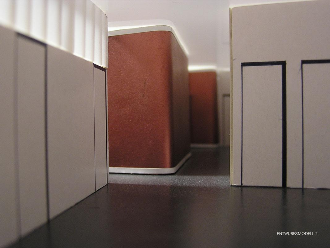 Entwurfsmodell 2 Arztpraxis von Roik Architekt Hamburg