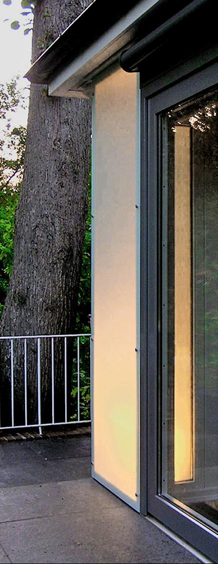Ansicht Lichtbox als Terrassenbeleuchtung von Roik Architekt Hamburg.