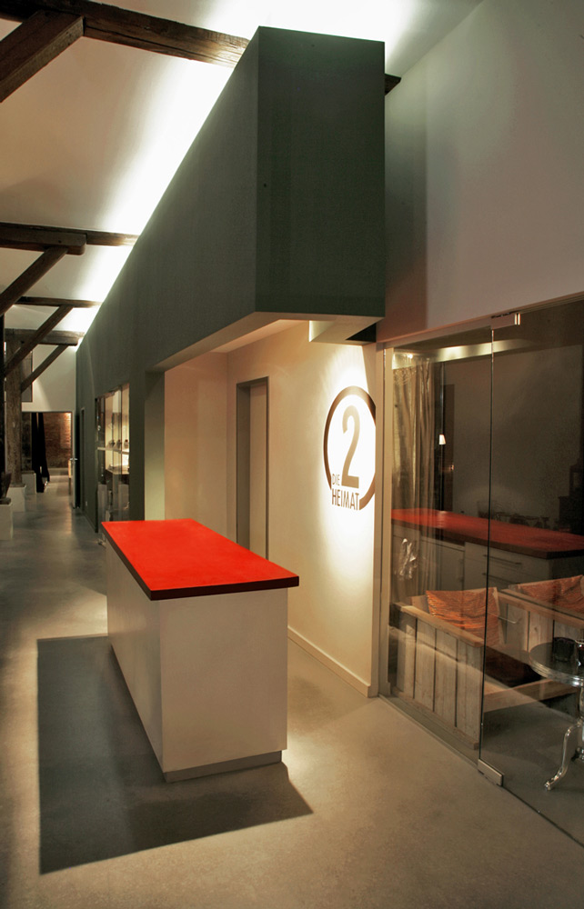 Detail des Foyers eines Konzepttheaters von Roik Architekt Hamburg