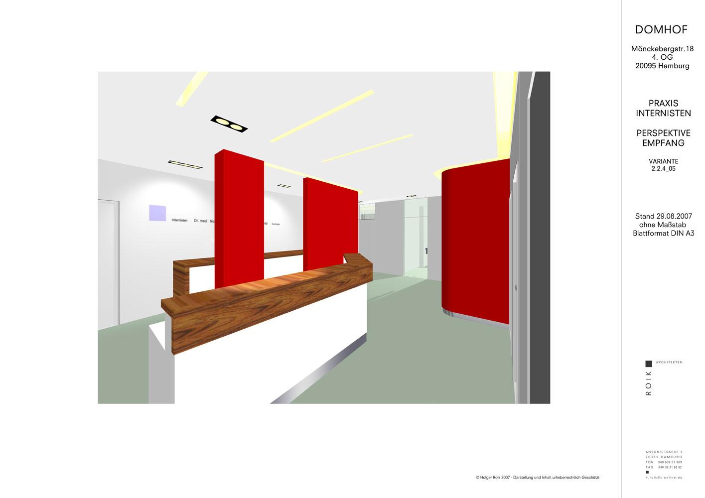 3D Darstellung Entwurf Roik Architekt Hamburg