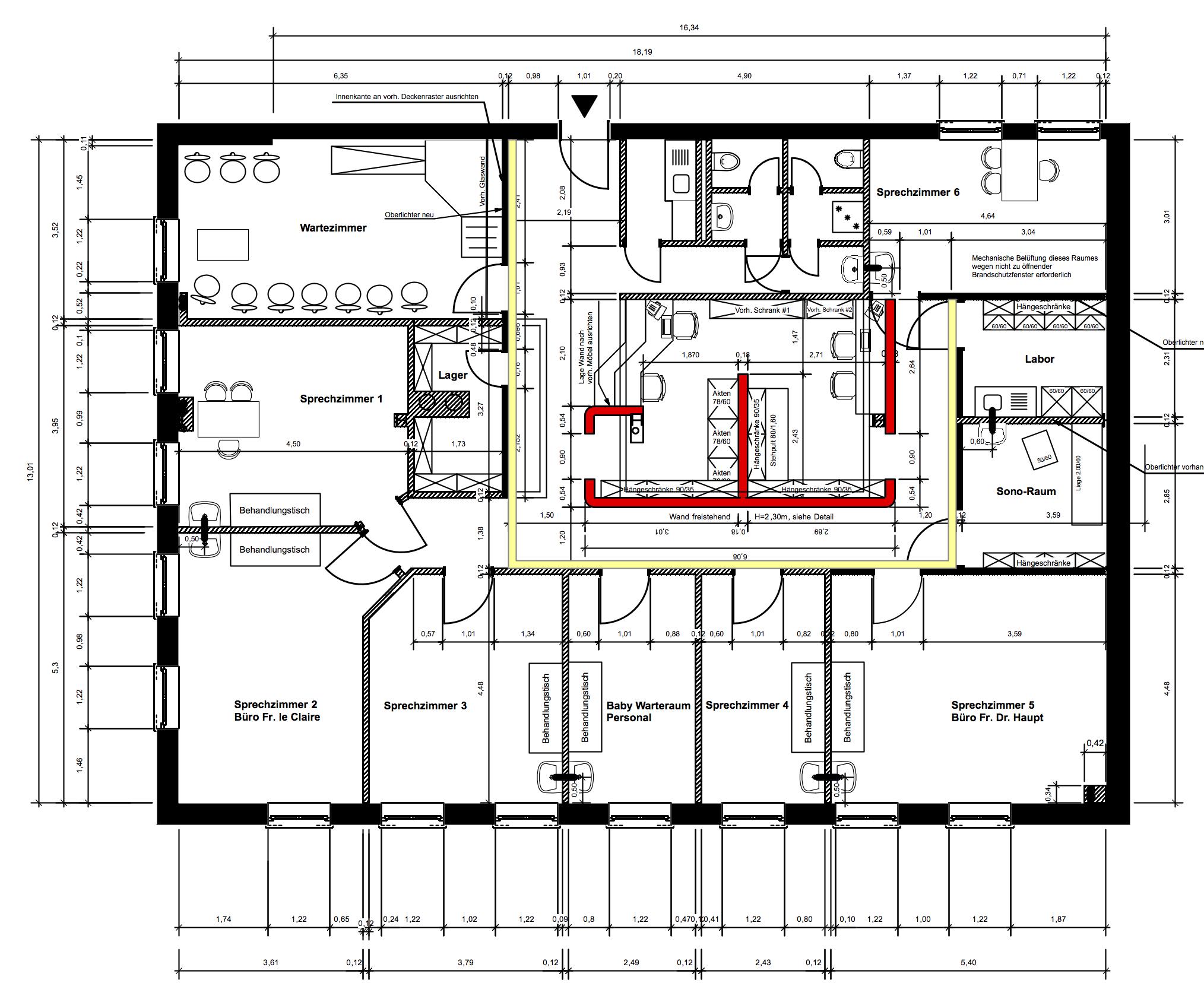 Kinderarztpraxis von Roik Architekt Hamburg Grundriss