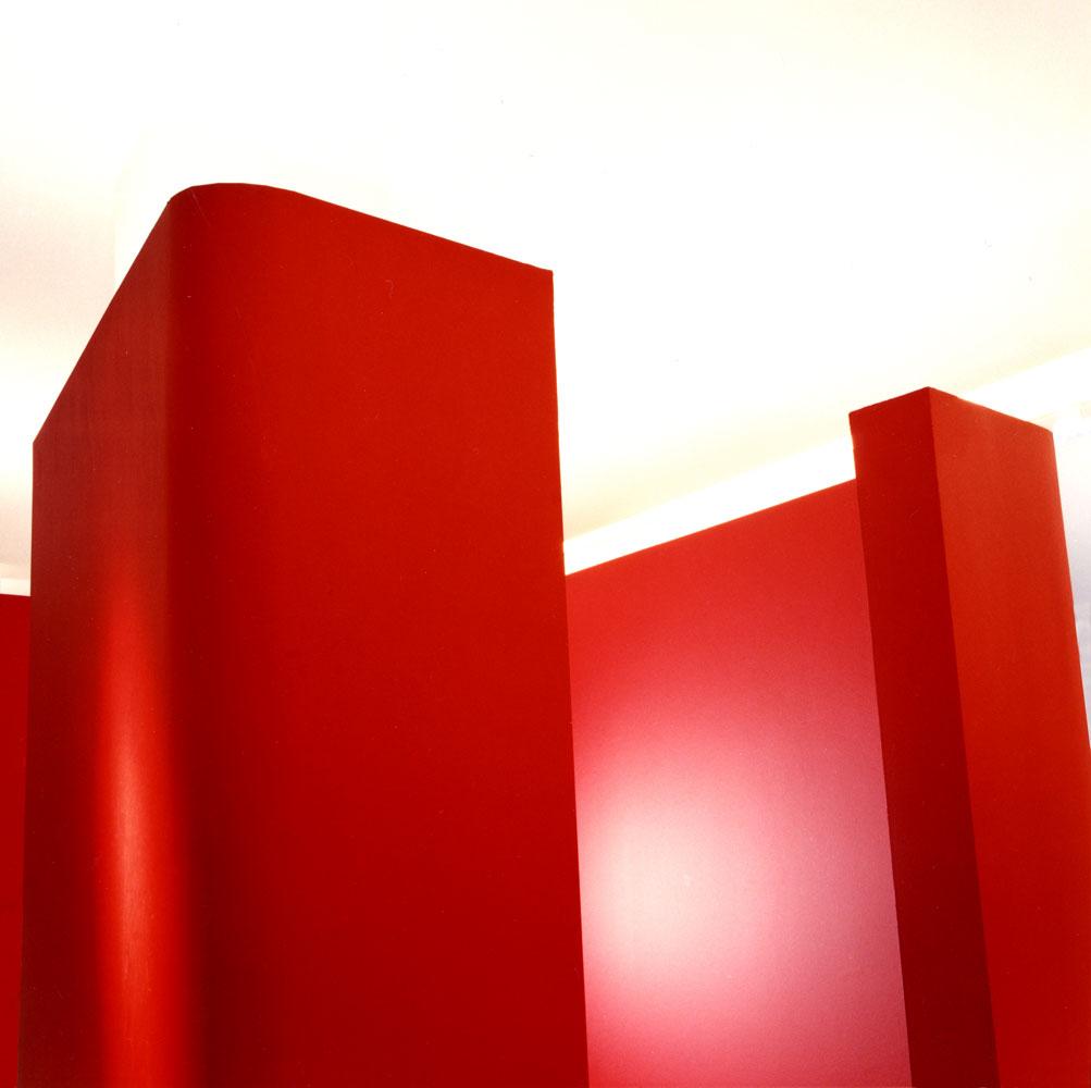 Wandscheiben Kinderarztpraxis von Roik Architekt Hamburg